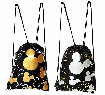Disney Mickey Mouse Drawstring Backpack set of 2 #D01