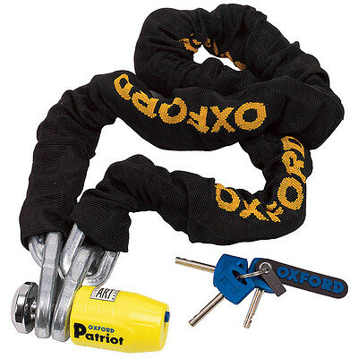 Oxford Motorbike Motorcycle Security Anti-Theft Patriot Chain Lock 1.2m