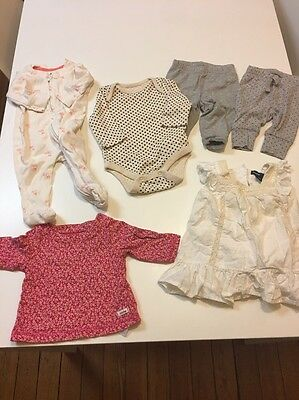 Lot Of Baby Gap Infant Girls 0-3 Months Clothes Dress Pajamas Outfits