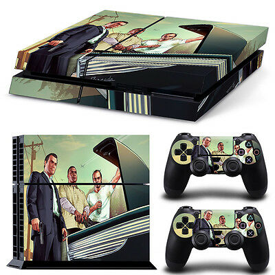 GTA V PS4 Playstation 4 Console Controller Decal Skin Sticker NEW