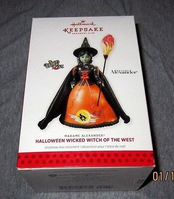 Hallmark Ornament Wizard Of Oz 2013 Halloween Wicked Witch Of The West~New~Box E