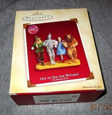 Hallmark Ornament Wizard Of Oz 2005 Off To See The Wizard~New~Box Good No Tag!