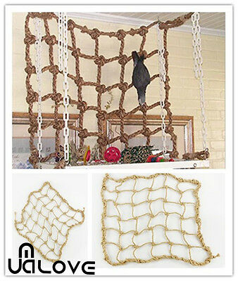 Parrot Birds Climbing Net Jungle Small Animals Chew Toy Fever Rope Swing Ladder