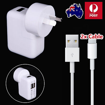 Dual USB Wall Charger Cable Power Adapter for iPhone 7 5s 6 6S plus iPad White