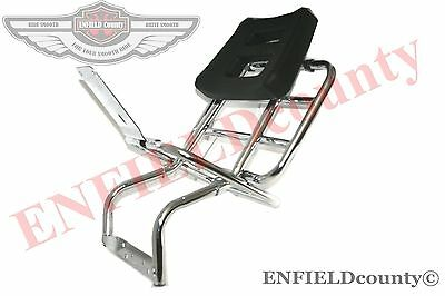 Vespa Rear Carrier With Backrest Chrome Plated Px 80 125 200 Scooter @uk
