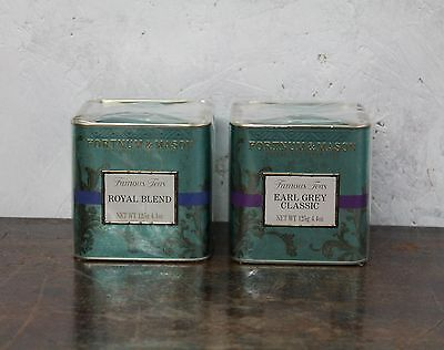 Fortnum & Mason Tea Tins Two Royal Blend Earl Grey New Sealed Piccadilly London