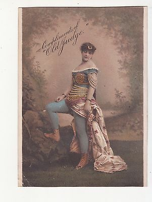 Old Judge Cigarettes Goodwin & Co New York Woman in Tights Dress Tobacco  c1880s