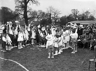 Photographic Glass Negative May Day 1929 Clifton Village Nottingham Unique Image