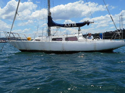 Steel yacht 31ft sea going new rigging 2009 survey 2010 diesel (Syd Hbr) No Res!