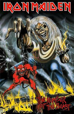 Official Licensed - Iron Maiden - Number Of The Beast Textile Poster Flag Metal