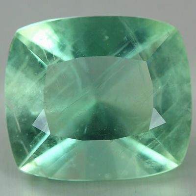 18.660 Ct Genuine Natural Ultra Rare Nice Wow Fine Green Color Fluorite Unheated