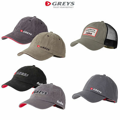 Greys Strata Baseball Caps*4 Types*Fishing Trout Salmon Game Peaked Headwear