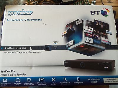 Youview BT HUMAX DTR-T1000/GB/500GB Dual Tuner Digital TV Freeview HD Recorder