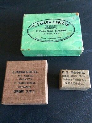 3 Vintage Fishing Boxes, Farlow Etc.