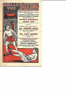 Boxing Programme from 1944