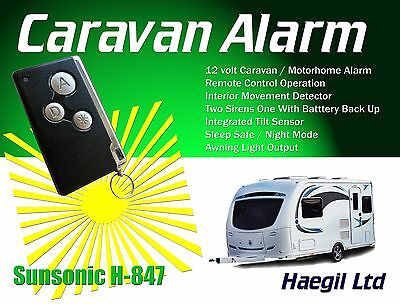 Caravan Alarm Security System, Remote Controlled with Tilt Protection H847