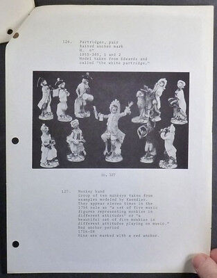 Antique Chelsea Porcelain and Figures @ Colonial Williamsburg 1973 Catalog