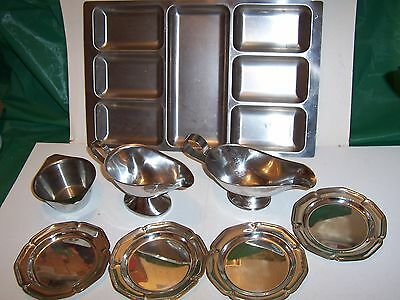 Stainless Steel Job Lot  Eight  Pieces