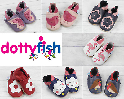 Dotty Fish Girls Soft Leather Baby and Toddler Shoes