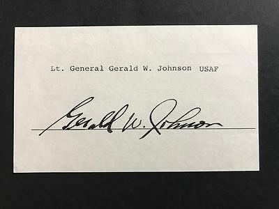 Card signed fighter ace Jerry Johnson 61st FS, 56th FG Zemke's Wolfpack USAAF