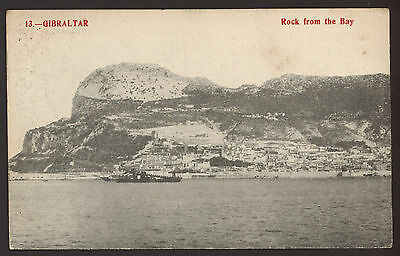 Gibraltar. The Rock From The Bay - Vintage Printed Postcard