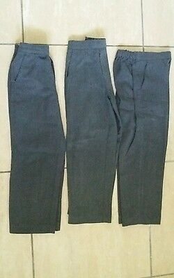 3 pairs age 6 boys grey school trousers