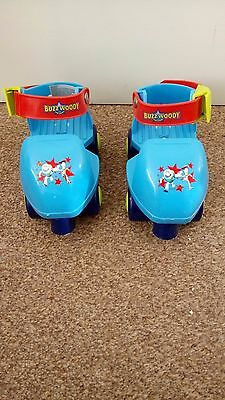 Childrens Buzz And Woody Adjustable Quad Skates Fits Over Shoes (size 5-11)