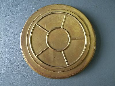 Vintage hinged brass clock back door spares parts