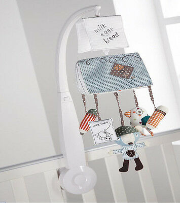 Mamas & Papas Luxury Scrapbook Musical Cot Mobile boxed boys