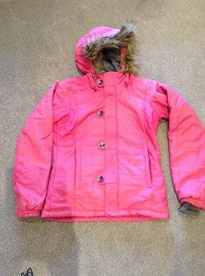 Ladies Betty Rides Pink Ski Coat Jacket M Medium