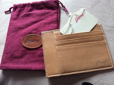 Brioni I Leather Credit Card Holder New With Tags