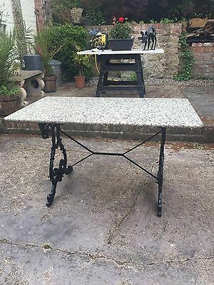 old cast iron Table & granite Top.  Reduced Reduced !