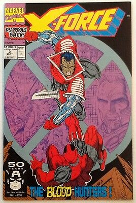 X-Force #2 NM 9.4 Marvel 1991 2nd Appearance of Deadpool