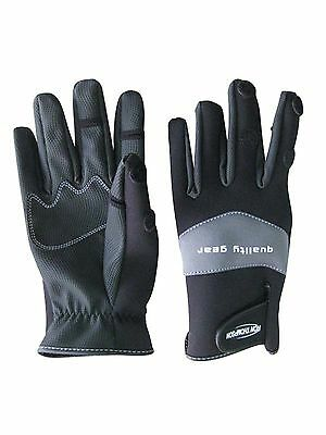 Ron Thompson SkinFit Neoprene Gloves*3 Sizes*Winter Fishing Pike Coarse Game