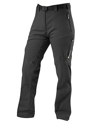 Montane Womens Terra Ridge Pants Black - Regular Leg Size UK16  EU 42