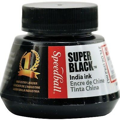 Speedball Art Products 2-Ounce India Ink Super Black