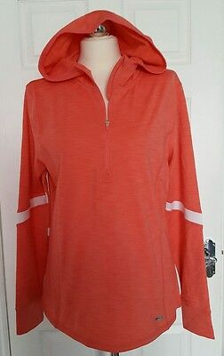 "Ladies Dri More Size XL (42"") coral athletic hooded sports top ❤NEW"