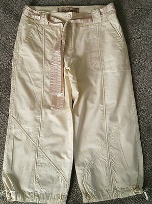 Ladies NEXT Size 10 cargo style cream crops cropped trousers ❤New