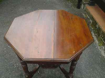 Antique Mahogany Threepenny Bit Occasional Table Ornate Base
