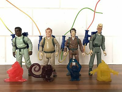 Kenner The Real Ghostbusters Set Of 4 Original Action Figures With Proton Packs