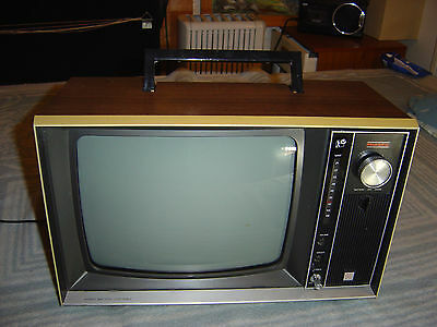 murphy v1400batterymains portable mono tv (curca 1970s)
