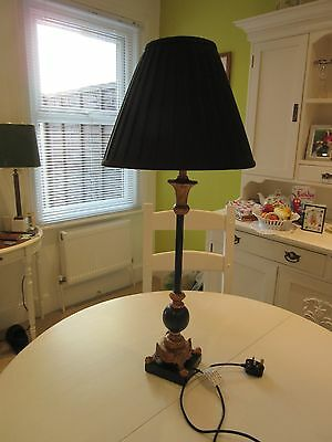 Buffet/ Floor Lamp Black and Antique Gold Finish