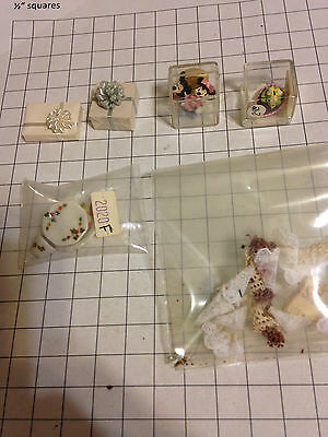 Lot Dollhouse miniature wrapped presents Mickey Minnie mouse chocolate egg posie
