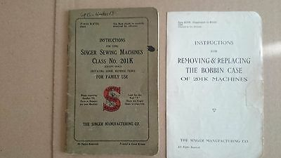 Singer Sewing Machine 210k  Instruction book