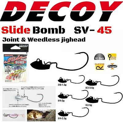 Decoy Joint&weedless Jighead Slide Bomb Sv-45