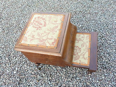 Antique Victorian Mahogany Stepped Commode
