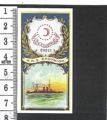 Battleships & Crests.H.M.S.Endymion.Issued by Hill's.