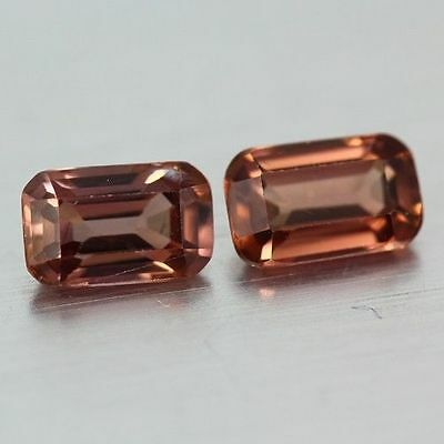 2.285 Cts Full Fire Natural Natural Earth Mine Red Zircon Loose Gemstone Pair