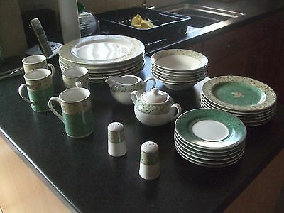 """BHS 6 Genuine Stoneware Valencia Very Large Plates 12.25"""" 31cm + 26 Cups Dishes"""