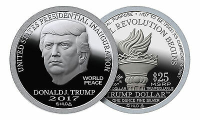 20 Coin Roll Lot Of 2017 Trump Dollar Inaugural 1 oz .999 Silver USA Rounds